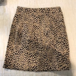 brandy melville cheetah skirt